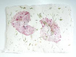 A5, Büttenpapier Mohnblüten/Wiesengräser, doppelt geschöpft, Einzelblatt