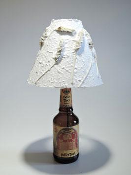 Tischlampe Getreideähren mit Flaschenfuß