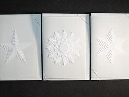 Weiße Kunstkarten Sterne I