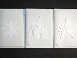 """Weiße Kunstkarten """"Weihnachten"""""""