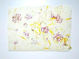 A4, Büttenpapier, Gemswurz/Löwenzahn/Pelargonie, doppelt geschöpft, Einzelblatt