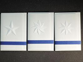 """Weiße Kunstkarten klein """"Sterne"""""""