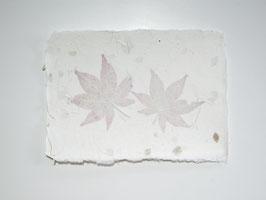 A5, Büttenpapier Fächerahorn/Hortensie, doppelt geschöpft, Einzelblatt