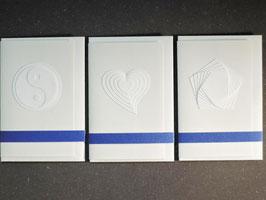 """Weiße Kunstkarten klein  """"Mix"""""""