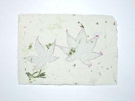 A5, Büttenpapier japanischer Ahorn/Bohnenkraut, doppelt geschöpft, Einzelblatt