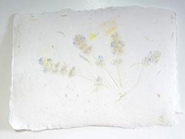 A5, Büttenpapier Lavendel/Nachtkerze, doppelt geschöpft, Einzelblatt