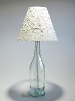 Tischlampe Perückenstrauch mit Flaschenfuß