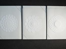 """Weiße Kunstkarten """"Kreise"""""""