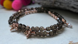 *NEW* Wickelarmband SMOKEY Rose-Gold