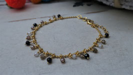 "*NEW"" Janogi Zirkonarmband BROWN gold"