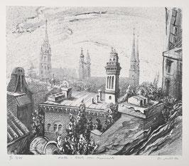Halle - Blick vom Neumarkt von Rolf Müller