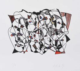 """"""" Gesichter """" von Ilse Rex Lenius, 1997"""