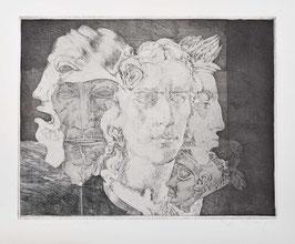 Schiller mit Maske von Rex, 1980