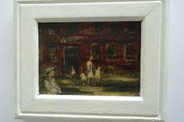 """""""Der Kindergarten"""", Ölbild, 1965, 14x20cm"""