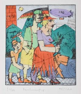 """"""" Familienausflug """" von Bernhard Michel 1991"""