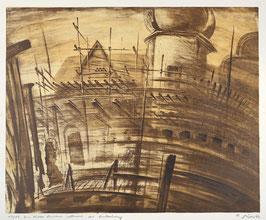 """"""" Der kühle Brunnen während der Restaurierung """" von Rolf Müller, 1986"""