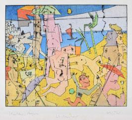""""""" Urlauber """" von Bernhard Michel, 2005"""