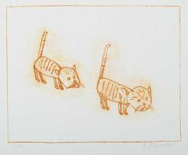 """"""" Katze I """" von Dieter Gilfert, 1999"""