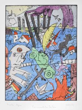 """"""" Sommerliches Treiben """" von Bernhard Michel, 2002"""