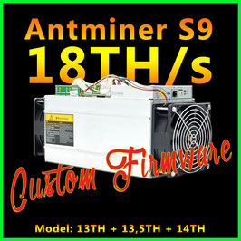 Firmware für Antminer S9 - 18TH