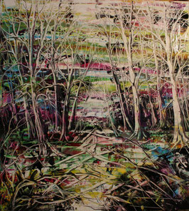 Abstract Forrest - 90x100cm – Oil on Hardfiber
