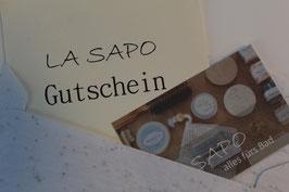LA SAPO Geschenk-Gutschein