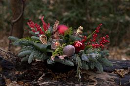 Kerst op tafel Rood