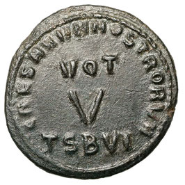 Constantinus II. (316-337) Thessalonica, VOT V - Extremely rare! (R5)
