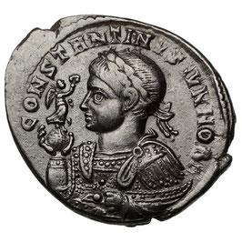 Constantinus II. (Caesar, 316-337) AE Follis, Trier, Altar