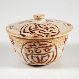 Japan, Teeschale mit Deckel im Stile der Seto-Keramik