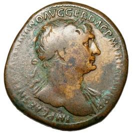Trajan (98-117) Sesterz, Abundantia, Erziehung ital. Kinder