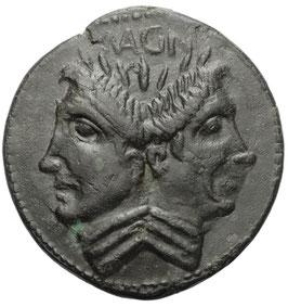 Sextus Pompeius (42-38 BCE) AE As, Januskopf
