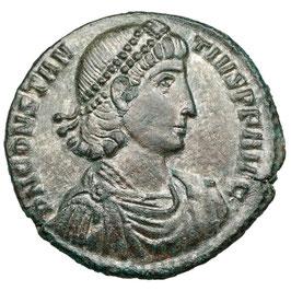 Constantius II. (337-361) AE Follis, Reiter-Sturz