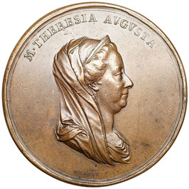 Maria Theresia 1740-1780 Bronzemedaille 1775 (A. Guillemard)
