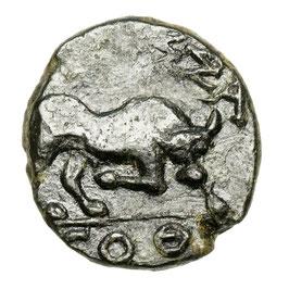Gallia, Massalia (~80-50 BCE) Stier, Apollo