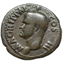 Agrippa (14-41) AE As, Rom, Neptun