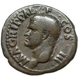 Agrippa (14-41) AE As, Rom, Neptun