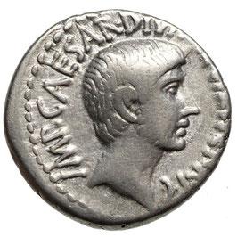OCTAVIAN (36 v. u. Z.) AR Denar