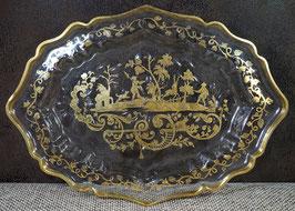 Prächtige BAROCKE Glasschale, ca. 1740