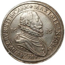 Erzherzog Maximilian (1612 - 1618) AR Taler, 1615. Hall. Graveurfehler!