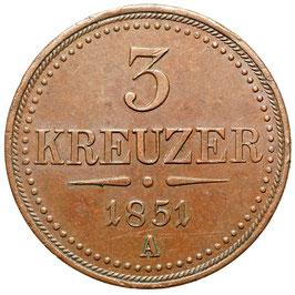Franz Joseph I. (1848-1916) 3 Kreuzer, A