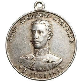 Franz Joseph I. (1848-1916) Silbermedaille 1893
