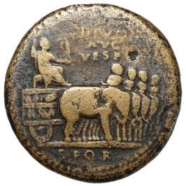 Titus für Divus Vespasianus (80/81) AE Sesterz