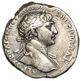 Caesarea, Trajan (98-117) TRI-Drachme, Ähren