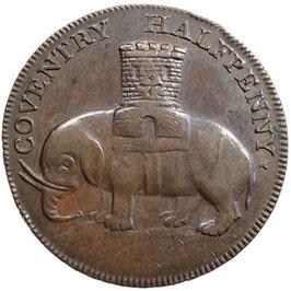 Großbritannien, Halfpenny 1792, Warwickshire