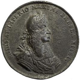 Leopold I., Zinn-Medaille,  Abguss, Breslau, 1669