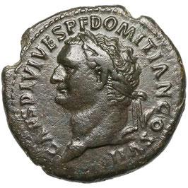 Domitian Caesar (81-96) AE As, Rom, Minerva