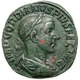 Gordianus III. (238-244) Sestertius, Sol