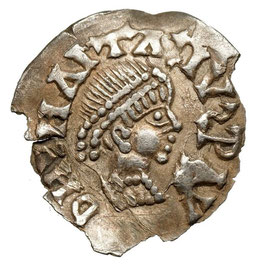 Gepids under Theoderich (489-526). AR 1/2 Siliqua, on behalf of Anastasius I., Monograme Sirmium