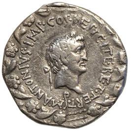 Marc Anton und Octavia (30 BCE) AR Cistophor/Tetradrachme